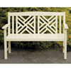 This item: Fretwork Antique Ivory Bench