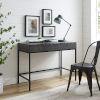 This item: Jacobsen Brown Ash Matte Black Desk