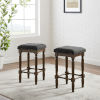 This item: Aldrich Charcoal Dark Brown Two-Piece Counter Stool Set