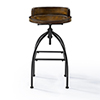 This item: Edison Natural Adjustable Height Bar Stool