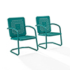 This item: Bates Turquoise Metal Outdoor Chair, Set of Two