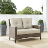 This item: Rockport Brown Outdoor Wicker High Back Loveseat