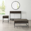 This item: Jacobsen Brown Ash and Matte Black Three-Piece Coffee Console and End Table Set