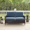 This item: Kiawah Blue Brown Outdoor Wicker Loveseat