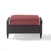 This item: Kiawah Sangria Brown Outdoor Wicker Ottoman