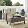This item: Rockport Brown Outdoor Wicker Conversation Set, 2 Piece