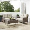 This item: Rockport Brown Outdoor Wicker Conversation Set, 3 Piece