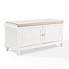 This item: Palmetto Entryway Bench in White Finish