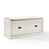 This item: Seaside Entryway Bench in Distressed White Finish