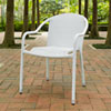 This item: Palm Harbor White Outdoor Wicker Stackable Chair, Set of 4