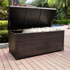This item: Palm Harbor Brown Outdoor Wicker Storage Bin