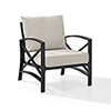 This item: Kaplan Arm Chair in Oiled Bronze With Oatmeal Universal Cushion Cover