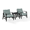 This item: Kaplan 3 Piece Outdoor Seating Set With Mist Cushion - Two Chairs, Side Table