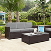This item: Palm Harbor Outdoor Wicker Sofa in Brown With Grey Cushions