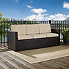 This item: Palm Harbor Outdoor Wicker Sofa in Brown With Sand Cushions