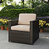 This item: Palm Harbor Outdoor Wicker Arm Chair in Brown With Sand Cushions