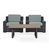 This item: Beaufort 3 Piece Outdoor Wicker Seating Set With Mist Cushion - Two Outdoor Wicker Chairs, Coffee Table
