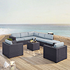 This item: Biscayne 8 Person Outdoor Wicker Seating Set in Mist  - Two Loveseats, Two Arm Chairs, One Armless Chair, Coffee Table, Ottoman
