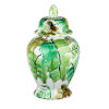 This item: Green 10-Inch Round Leaf Jar with Lid