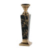 This item: Gloss Black and Gold Candle Holder, Short