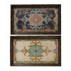 This item: Brown And Blue Tray, Set of 2