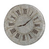 This item: Antique Silver And Gold Roman Numeral Clock