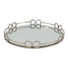This item: Valentina Silver Round Mirror Tray, Large