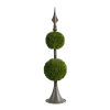This item: Antique Bronze And Green Spired Two-Sphere Boxwood Topiary