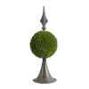 This item: Antique Bronze And Green Spired Sphere Boxwood Topiary