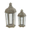 This item: Armand Brown And White Carriage Candle Lantern, Set of 2
