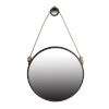 This item: Cleveland Matte Black Rope Strap Mirror with Hanger, Large