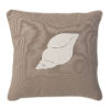 This item: Sandy Brown And White Conch Shell Pillow