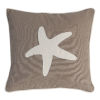 This item: Sandy Brown And White Starfish Pillow