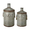 This item: Patchin Silver And Rust Jar, Set of 2