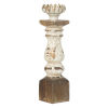 This item: Bellamy Distressed White And Gold Candle Holder