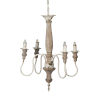 This item: Distressed White 18-Inch Four-Light Chandelier