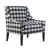 This item: Black Plaid Arm Chairs