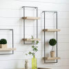 This item: Black 12-Inch Wall Shelf with Two Shelves