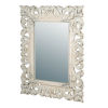 This item: Antique White Rectangle Scrollwork Wall Mirror