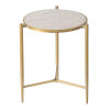 This item: Gold Gold and White Marble End Table