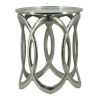 This item: Polished Nickel Round Nesting Side Table, Set of 2