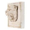 This item: Antique Cream Lion's Head Wall Decor