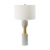 This item: Gray and Brass One-Light Cylindrical Table Lamp