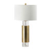 This item: Brass and Clear One-Light Table Lamp