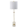 This item: Brass and White One-Light Buffet Lamp