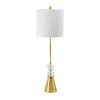 This item: Gold and Clear One-Light Buffet Lamp