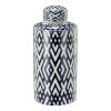 This item: Carlyle Blue and White Lidded Jar, Small