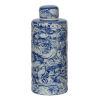 This item: Inez Blue And White Lidded Decorative Jar
