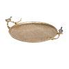 This item: Alvada Shiny Gold Decorative Tray