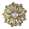 This item: Gold And Silver Flower With Acrylic Wall Mirror
